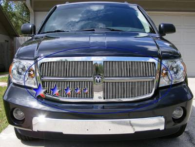 Grilles - Custom Fit Grilles - APS - Dodge Durango APS Billet Grille - Upper - Aluminum - D66470V