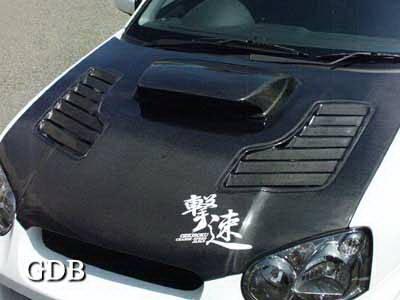 WRX - Hoods - Chargespeed - Subaru WRX Chargespeed Middle Term Vented Hood - CS977HCV