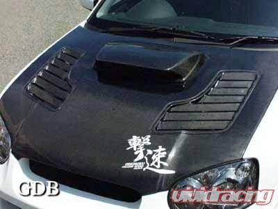 WRX - Hoods - Chargespeed - Subaru WRX Chargespeed Middle Term Vented Hood JDM - CS977HFV