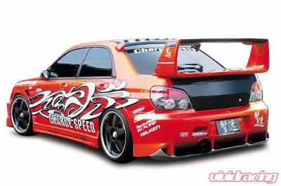 Impreza - Rear Bumper - Chargespeed - Subaru Impreza Chargespeed Peanut New Eye Type-2 Rear Bumper with Diffuser - CS977RB2