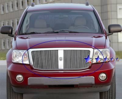 Grilles - Custom Fit Grilles - APS - Dodge Durango APS Billet Grille - Upper - Aluminum - D66528V