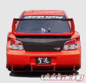 Impreza - Rear Bumper - Chargespeed - Subaru Impreza Chargespeed Peanut New Eye Wide Body Super GT Rear Bumper with Carbon Diffuser - CS977RBW