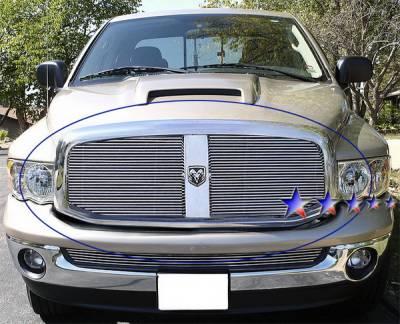 Grilles - Custom Fit Grilles - APS - Dodge Ram APS Billet Grille - Upper - Aluminum - D66530A