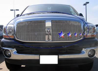 Grilles - Custom Fit Grilles - APS - Dodge Ram APS Billet Grille - Upper - Aluminum - D66530V