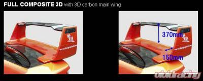 Spoilers - Custom Wing - Chargespeed - Subaru WRX Chargespeed Full Composite Wing 3D with 3D Top - CS978CW2