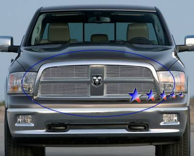 Grilles - Custom Fit Grilles - APS - Dodge Ram APS Billet Grille - Upper - Stainless Steel - D66613S