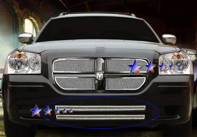 Grilles - Custom Fit Grilles - APS - Dodge Magnum APS Wire Mesh Grille - Bumper - Stainless Steel - D75036T