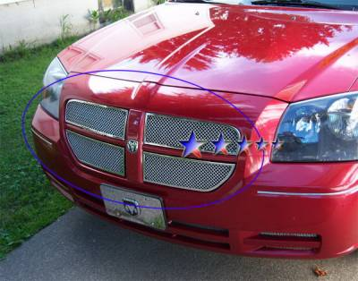 Grilles - Custom Fit Grilles - APS - Dodge Magnum APS Wire Mesh Grille - Upper - Stainless Steel - D75037T