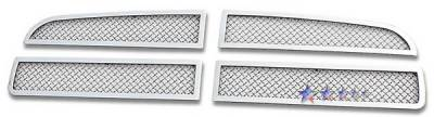 Grilles - Custom Fit Grilles - APS - Dodge Charger APS Wire Mesh Grille - Upper - Stainless Steel - D76438T