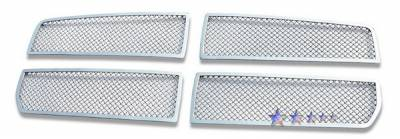 Grilles - Custom Fit Grilles - APS - Dodge Dakota APS Wire Mesh Grille - Upper - Stainless Steel - D76471T