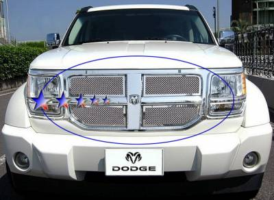 Grilles - Custom Fit Grilles - APS - Dodge Nitro APS Wire Mesh Grille - Upper - Stainless Steel - D76473T