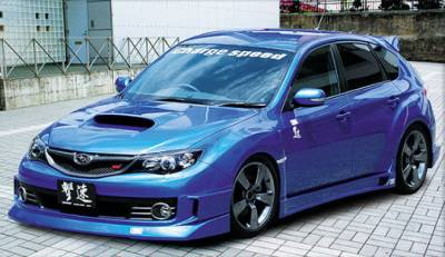 WRX - Body Kits - Chargespeed - Subaru WRX Chargespeed Half Type Full Spoiler Kit - 5PC - CS979FLK