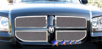 Grilles - Custom Fit Grilles - APS - Dodge Magnum APS Wire Mesh Grille - Upper - Stainless Steel - D76571T