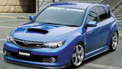 WRX - Body Kits - Chargespeed - Subaru WRX Chargespeed Bottom Line Type 2 Carbon Full Lip Kit - 5PC - CS979FLK2C