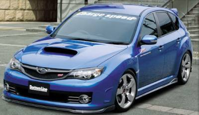 WRX - Body Kits - Chargespeed - Subaru WRX Chargespeed Bottom Line Type 2 Full Lip Kit - 5PC - CS979FLK2F