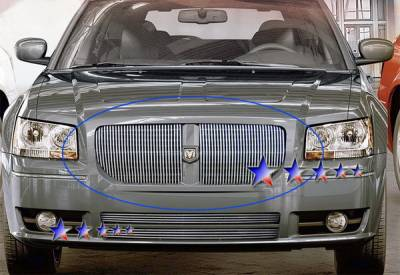 Grilles - Custom Fit Grilles - APS - Dodge Magnum APS Billet Grille - Upper - Aluminum - D85037V