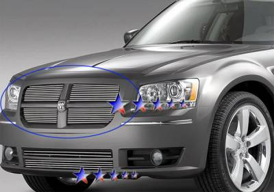 Grilles - Custom Fit Grilles - APS - Dodge Magnum APS Billet Grille - Upper - Aluminum - D86571A