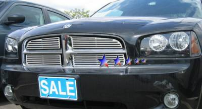Grilles - Custom Fit Grilles - APS - Dodge Charger APS CNC Grille - Upper - Aluminum - D96438A