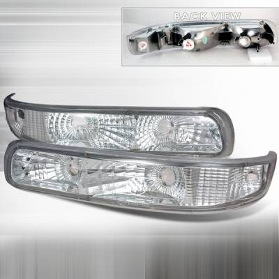 Headlights & Tail Lights - Corner Lights - Custom Disco - Chevrolet Silverado Custom Disco Clear Bumper Lights - DISC