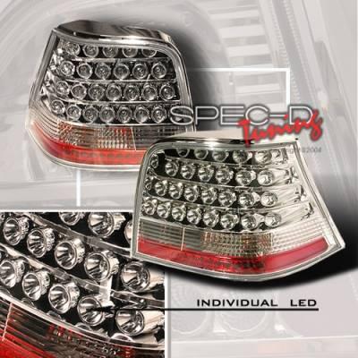 Headlights & Tail Lights - LED Tail Lights - Custom Disco - Volkswagen Golf GTI Custom Disco Gunmetal LED Taillights - DISC
