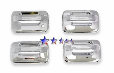 Suv Truck Accessories - Chrome Billet Door Handles - APS - Ford F150 APS Door Handle Covers - DC110B1