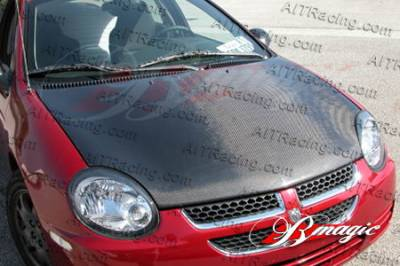 Neon 2Dr - Hoods - AIT Racing - Dodge Neon AIT Racing OEM Style Carbon Fiber Hood - DN00BMCFH