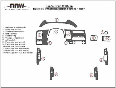 Car Interior - Interior Trim Kits - Custom - Dash Trim Kit Exclusive