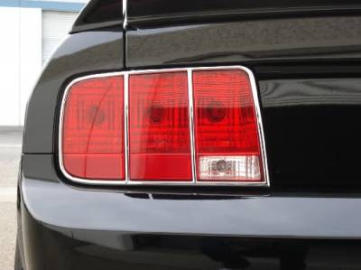 Headlights & Tail Lights - Led Tail Lights - CPC - Ford Mustang CPC Taillight Bezels - EXT-058-584