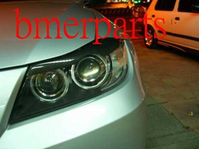 Headlights & Tail Lights - Headlight Covers - Custom - 3Series 4D Carbon Eyelids Eyebrows
