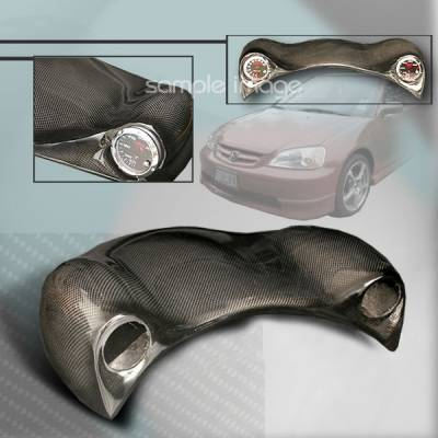 Car Interior - Gauges - Custom Disco - Honda Civic Custom Disco Frog Eye Gauge with 2 Pods - FE2-CV00CF-ATW