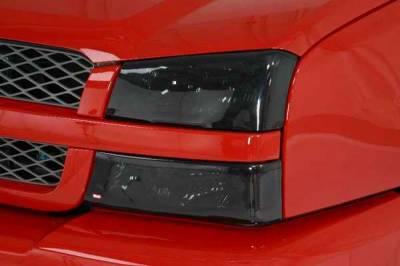 Headlights & Tail Lights - Headlight Covers - Wade - Wade Smoke Headlight Cover 2PC - 38282