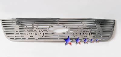 Grilles - Custom Fit Grilles - APS - Ford Explorer APS Symbolic Grille - Upper - Aluminum - F25331B