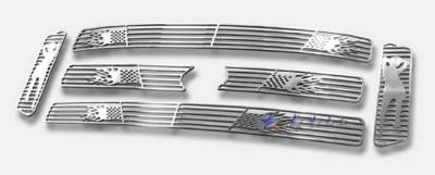 Grilles - Custom Fit Grilles - APS - Ford F350 APS Symbolic Grille - Honeycomb Style - Upper - Aluminum - F25799E
