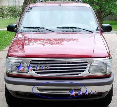 Grilles - Custom Fit Grilles - APS - Ford Explorer APS Billet Grille - Bumper - Aluminum - F65024A