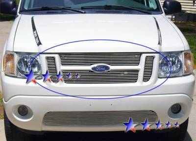 Grilles - Custom Fit Grilles - APS - Ford Explorer APS Billet Grille - Upper - Stainless Steel - F65323S