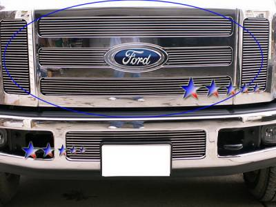 Grilles - Custom Fit Grilles - APS - Ford F250 APS Billet Grille - Upper - Stainless Steel - F65327S