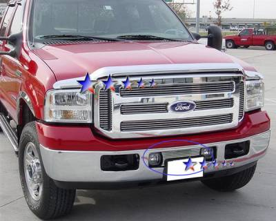 Grilles - Custom Fit Grilles - APS - Ford F350 APS Billet Grille - Bumper - Stainless Steel - F65356S
