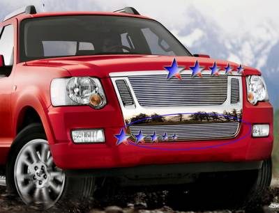 Grilles - Custom Fit Grilles - APS - Ford Explorer APS Billet Grille - Bumper - Stainless Steel - F65529S