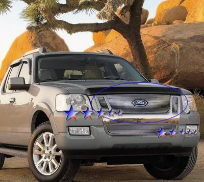 Grilles - Custom Fit Grilles - APS - Ford Explorer APS Billet Grille - with Logo Opening - Upper - Aluminum - F65536A