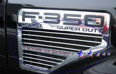 Grilles - Custom Fit Grilles - APS - Ford F350 APS Billet Grille - Side Vent - Upper - Aluminum - F65542A