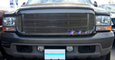 Grilles - Custom Fit Grilles - APS - Ford Excursion APS Billet Grille - Upper - Aluminum - F65707A