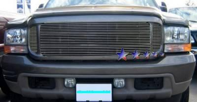 Grilles - Custom Fit Grilles - APS - Ford F550 APS Billet Grille - Center - Upper - Stainless Steel - F65708S