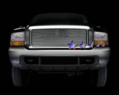 Grilles - Custom Fit Grilles - APS - Ford Excursion APS Billet Grille - Upper - Aluminum - F65709A