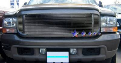 Grilles - Custom Fit Grilles - APS - Ford Excursion APS Billet Grille - 2PC - Upper - Stainless Steel - F65711S