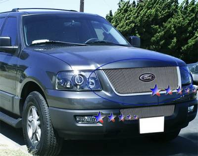 Grilles - Custom Fit Grilles - APS - Ford Expedition APS Billet Grille - Upper - Aluminum - F65715V