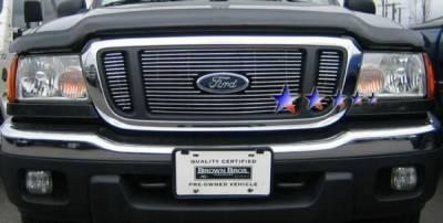 Grilles - Custom Fit Grilles - APS - Ford Ranger APS Billet Grille - with Logo Opening - Upper - Aluminum - F65736A