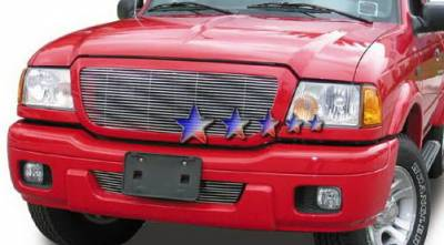 Grilles - Custom Fit Grilles - APS - Ford Ranger APS Billet Grille - Bumper - Aluminum - F65737A