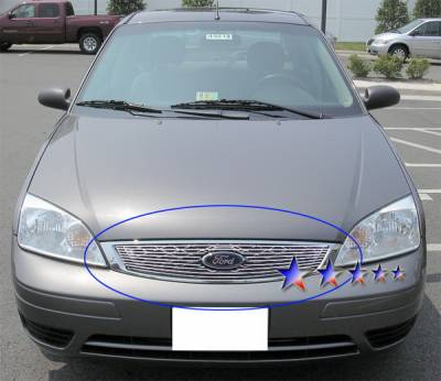 Grilles - Custom Fit Grilles - APS - Ford Focus APS Billet Grille - Upper - Aluminum - F65751A