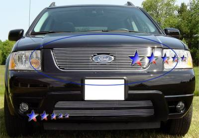 Grilles - Custom Fit Grilles - APS - Ford Freestyle APS Billet Grille - Upper - Aluminum - F65759A