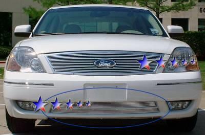 Grilles - Custom Fit Grilles - APS - Ford 500 APS Billet Grille - Bumper - Aluminum - F65763A
